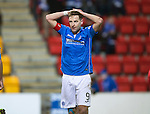 St Johnstone v Aberdeen...23.01.15   SPFL<br /> Steven MacLean reacts after a number of efforts at goal are blocked late on<br /> Picture by Graeme Hart.<br /> Copyright Perthshire Picture Agency<br /> Tel: 01738 623350  Mobile: 07990 594431