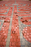 The cobblestone labyrinth in the healing garden of the Dell Children's Medical Center of Central Texas, Austin Texas, July 9, 2007.