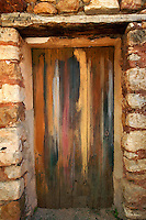 Weathered wooden door, Roussillon, France