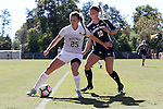 23 October 2016: Wake Forest's Ally Haran (25) and Notre Dame's Jennifer Westendorf (10). The Wake Forest University Demon Deacons hosted the University of Notre Dame Fighting Irish at Spry Stadium in Winston-Salem, North Carolina in a 2016 NCAA Division I Women's Soccer match. Notre Dame won the game 1-0.