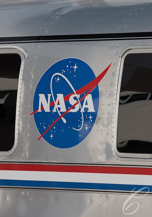 NASA's historic Airstream bus sits ready to for the Discovery astrouants  as they prepare to leave for the launch pad February 24, 2011.