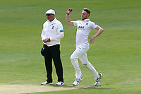 Jamie Porter in bowling action for Essex during Essex CCC vs Hampshire CCC, Specsavers County Championship Division 1 Cricket at The Cloudfm County Ground on 21st May 2017