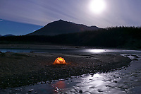 Winter camp along the Koyukuk river, Wiseman, Alaska