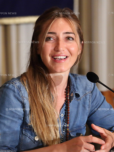 June 9, 2015, Tokyo, Hapan - Turkish world record holder free diver, Sahika Ercumen attend a media conference in Tokyo on June 9, 2015. (Photo by Motoo Naka/AFLO)