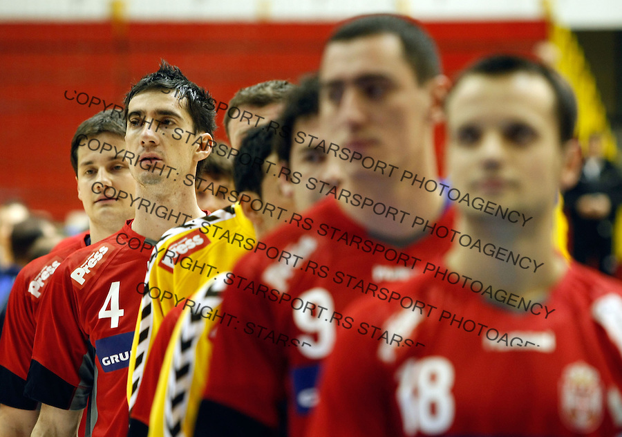 Rukomet, prijateljski mec.Srbija Vs. Rumunija.Marko Curuvija.Beograd, 27.12.2008. .Photo: © Srdjan Stevanovic/Starsportphoto.com