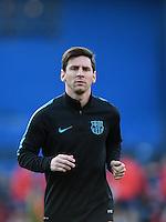 FUSSBALL CHAMPIONS LEAGUE  SAISON 2015/2016 VIERTELFINAL RUECKSPIEL Atletico Madrid - FC Barcelona       13.04.2016 Lionel Messi (Barca)