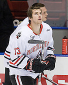 Randy Guzior (Northeastern - 13) - The Northeastern University Huskies defeated the visiting Providence College Friars 5-0 on Saturday, November 20, 2010, at Matthews Arena in Boston, Massachusetts.