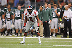 Ole Miss cornerback Marcus Temple (4) at the Louisiana Superdome in New Orleans, La. on Saturday, September 11, 2010. Ole Miss won 27-13.