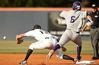SAN ANTONIO, TX - APRIL 15, 2011: The Northwestern State University Demons vs. the University of Texas at San Antonio Roadrunners Baseball at Roadrunner Field. (Photo by Jeff Huehn)