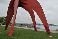 Olympic Sculpture Park run by Seattle Art Museum, Seattle, Washington, USA