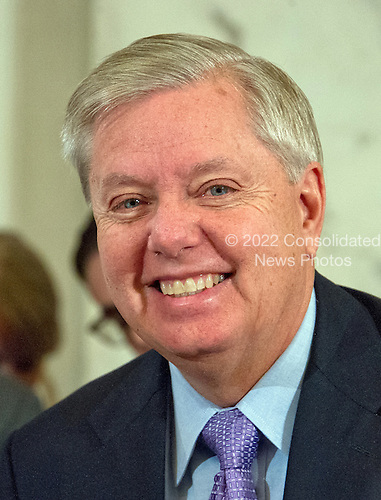 United States Senator Lindsey Graham (Republican of South Carolina) at the US Senate Judiciary Committee confirmation hearing on the nomination of US Senator Jeff Sessions (Republican of Alabama) to be Attorney General of the United States on Capitol Hill in Washington, DC on Tuesday, January 10, 2017.<br /> Credit: Ron Sachs / CNP