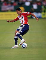 Chivas USA defender Ante Jazic (6) stops and reverses field during the first half of game between Chivas USA and FC Dallas at the Home Depot Center in Carson CA on June 26 2010. FC Dallas 2, Chivas USA 1.