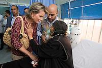 Queen Mathilde of Belgium in Al Zaatari refugee Camp - Jordan