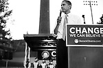 November 1, 2007. Durham, NC.. US senator and presidential candidate, Barack Obama, held a fundraiser at O?Kelly Riddick Stadium, at North Carolina Central University, in Durham, NC. to an estimated crowd of 3200 supporters.