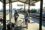Ben And George At Avranches Train Station