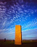 The Standing Stones of Stenness, Orkney Islands, Scotland, United Kingdom UNESCO World Heritage Site