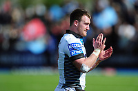 Stuart Hogg of Glasgow Warriors acknowledges the crowd after the match. European Rugby Champions Cup Quarter Final, between Saracens and Glasgow Warriors on April 2, 2017 at Allianz Park in London, England. Photo by: Patrick Khachfe / JMP