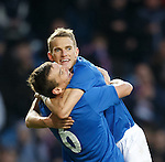 Lee McCulloch and Dean Shiels celebrate after goal no 4 against Alloa