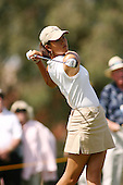 March 25, 2004; Rancho Mirage, CA, USA;  14 year old amateur Michelle Wie tees off at the 13th hole during the 1st round of the LPGA Kraft Nabisco golf tournament held at Mission Hills Country Club.  Wie finished the day tied for 7th with a 3 under par 69.<br />Mandatory Credit: Photo by Darrell Miho <br />&copy; Copyright Darrell Miho
