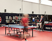 February 11, 2012. Cary, NC.. The US Olympic Table Tennis Trials were held Feb. 10-12 at Bond Park in Cary. Winners front he trials will return in April to compete in the continental trials with Canada to set the teams for the London Olympics this summer.