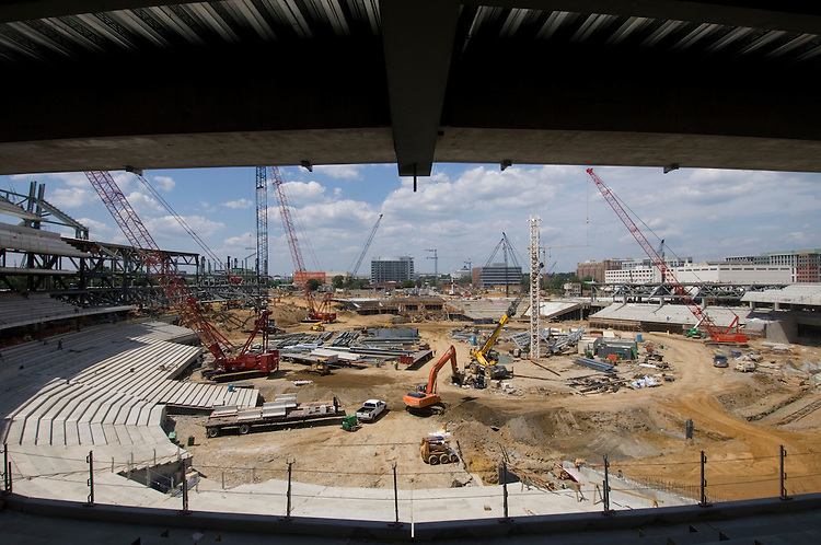 After announcing next year's season ticket prices, the Washington Nationals took the media on a tour of their new stadium on Wednesday, June 6, 2007.