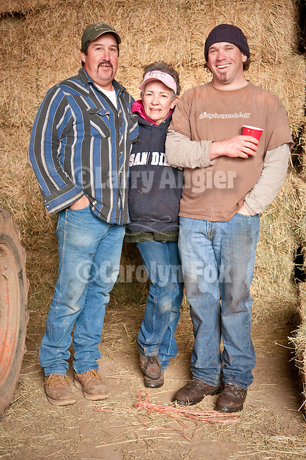 Families gather after Christmas at the Cuneo Ranch in California's Mother Lode. Mike, Kathleen, Clinton.