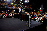 MIAMI, FL - NOVEMBER 03: U.S. President Barack Obama speaks during a campaign rally to a crowd of 4,500 people in support of Democratic presidential candidate Hillary Clinton at Florida International University on November 3, 2016 in Miami, Florida. Election day for the presidential candidates is 5 days away.  Credit: MPI10 / MediaPunch