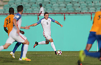 St. Vincent and the Grenadines - September 2, 2016: The U.S. Men's National team take a 5-0 lead over St. Vincent and the Grenadines in a World Cup Qualifier (WCQ) match at Arnos Vale Stadium.