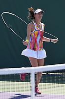 KEY BISCAYNE, FL - MARCH 22 : Martina Hingis is sighted on the practice court during the Miami Open at Crandon Park Tennis Center on March 22, 2017 in Key Biscayne, Florida. Credit: mpi04/MediaPunch