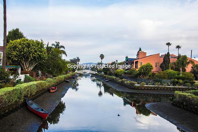 Stock photo of Venice Beach Canal