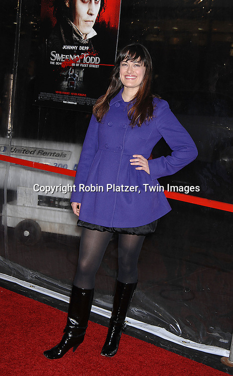 """Ashley Brown of Mary Poppins.arriving at the New York Premiere of """"Sweeney Todd"""" starring Johnny Depp on December 3, 2007 at The Ziegfeld Theatre in New York City. .Robin Platzer, Twin Images"""