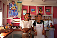 Waitresses at Le Tamarin Restaurant, Saline, St. Barth, Caribbean