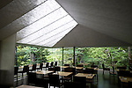 Photo shows the interior of the cafe at the Nezu Museum of Art in, Tokyo, Japan on 17 Sept. 2012. Photographer: Robert Gilhooly