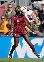 COLLEGE PARK, MD - OCTOBER 21, 2012: Jessica Price (6) of Florida State during an ACC women's match against Maryland at Ludwig Field in College Park, MD. on October 21. Florida won 1-0.