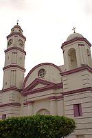 San Cristobal parish church in the Spanish colonial town of Tlacotalpan,  Veracruz, Mexico. Tlacotalpan is a UNESCO World Heritage Site.              .