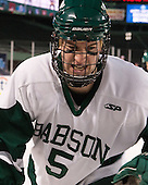 Matt Furey (Babson - 5) - The Norwich University Cadets defeated the Babson College Beavers 1-0 on Thursday, January 9, 2014, at Fenway Park in Boston, Massachusetts.