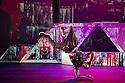 London, UK. 18.10.2013. Boy Blue Entertainment perform THE FIVE AND THE PROPHECY OF PRANA at the Barbican theatre. Dancers are: Michele 'Paleta' Rhyner, Bradley 'Bradz' Charles, Theo 'Godson' Oloyade, Kofi 'Klik' Mingo, Xena Gusthart, Vicky 'Skytilz' Mantey, Duwane Taylor, Kayla Lomas-Kirton, shaun Smith, Hakim Saber and Jumar Aben. Photograph © Jane Hobson.