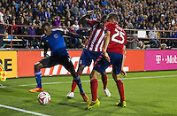Santa Clara, California - April 26, 2014: The San Jose Earthquakes face off against Chivas USA at Buck Shaw Stadium on Saturday.