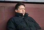 Hearts v St Johnstone...03.12.11   SPL .A glum faced Paulo Sergio watches from the stands..Picture by Graeme Hart..Copyright Perthshire Picture Agency.Tel: 01738 623350  Mobile: 07990 594431