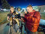 Night Location Lighting with M.D. Welch downtown Winnemucca, Nev., during Shooting the West XXVII