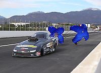 Nov 12, 2016; Pomona, CA, USA; NHRA top alcohol funny car driver Jonnie Lindberg during qualifying for the Auto Club Finals at Auto Club Raceway at Pomona. Mandatory Credit: Mark J. Rebilas-USA TODAY Sports
