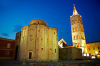 The The pre-Romanesque  Byzantine St Donat's Church & the Campinale bell tower of the St Anastasia Cathedral. Zadar, Croatia Byzantine St Donat's Church & the Campinale bell tower of the St Anastasia Cathedral. Zadar, Croatia