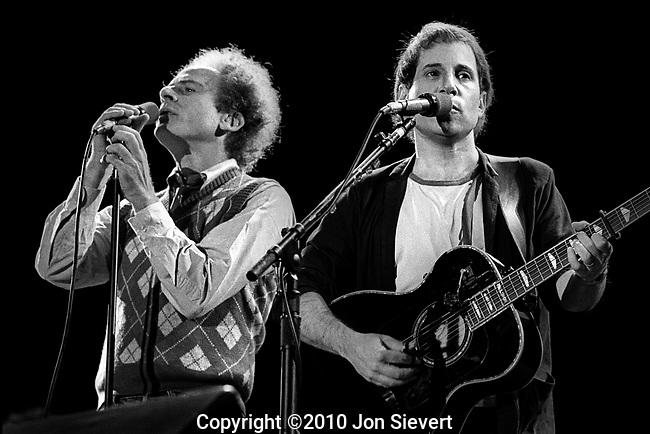 Art Garfunkel, Paul Simon, August 1983