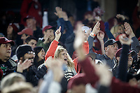 Stanford, CA - November 26, 2016: Fans during the Stanford vs Rice game Saturday at Stanford Stadium.<br /> <br /> Stanford won 41- 17.