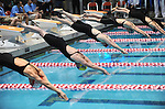 26 MAR 2011:  The start of the women's 100 yard freestyle race during the Division III Men's and Women's Swimming and Diving Championship held at Allan Jones Aquatic Center in Knoxville, TN.  The race was won by Kendra Stern of Amherst College with a time of 49.50  David Weinhold/NCAA Photos