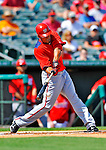 3 March 2011: Washington Nationals' infielder Ian Desmond connects during a Spring Training game against the St. Louis Cardinals at Roger Dean Stadium in Jupiter, Florida. The Cardinals defeated the Nationals 7-5 in Grapefruit League action. Mandatory Credit: Ed Wolfstein Photo
