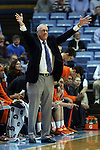 26 January 2015: Syracuse head coach Jim Boeheim. The University of North Carolina Tar Heels played the Syracuse University Orange in an NCAA Division I Men's basketball game at the Dean E. Smith Center in Chapel Hill, North Carolina. UNC won the game 93-83.