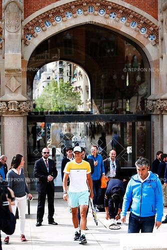 Rafael Nadal (ESP), APRIL 20, 2015 - Tennis : The ATP 500 World Tour Barcelona Open Banco Sabadell tennis tournament presentation event at St. Pau Hospital in Barcelona, Spain, (Photo by D.Nakashima/AFLO)