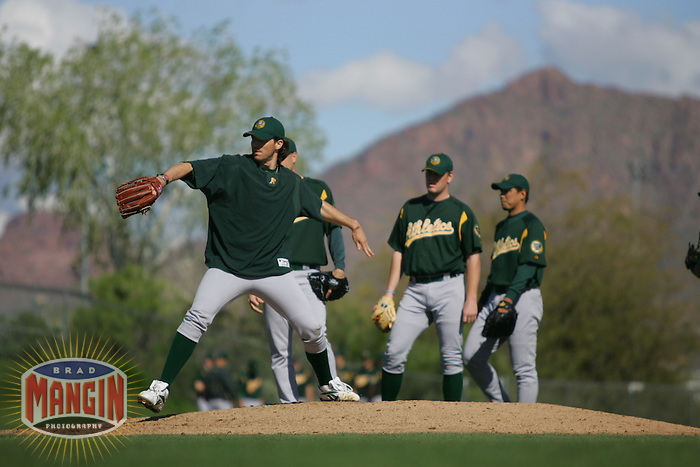 Barry Zito. Baseball: Oakland Athletics spring training camp at Papago Park. Phoenix, AZ 2/23/2005 MANDATORY CREDIT: Brad Mangin/Sports Illustrated
