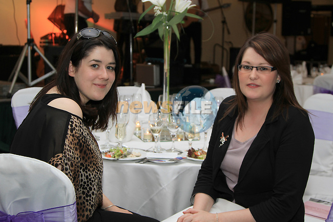 Jenny Matthews with Donna Durnin at the Wedding Showcase in The Boyne Valley Hotel...(Photo credit should read Jenny Matthews www.newsfile.ie)....This Picture has been sent you under the conditions enclosed by:.Newsfile Ltd..The Studio,.Millmount Abbey,.Drogheda,.Co Meath..Ireland..Tel: +353(0)41-9871240.Fax: +353(0)41-9871260.GSM: +353(0)86-2500958.email: pictures@newsfile.ie.www.newsfile.ie.